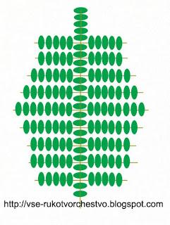 Пальма из бисера. Схема