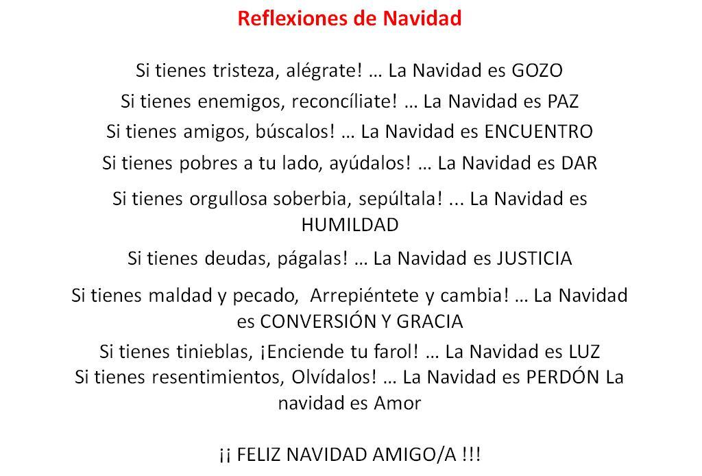 Resultado de imagen de REFLEXIONES DE LA NAVIDAD