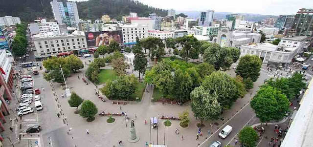 City of Concepcion, Chile, Main Square and surroundings