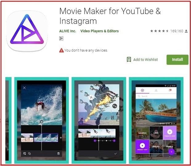 Editing Video Android Movie Maker Filmmaker