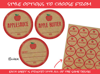 apple mason jar labels