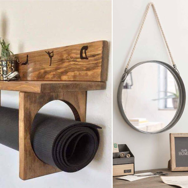 pinterest rangement tapis yoga diy miroir