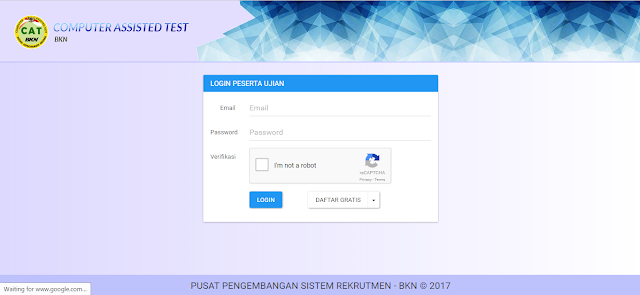 Download Simulasi CAT BKN ( Tes SKB CPNS 2017 )