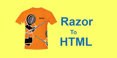 Generate HTML control using Razor
