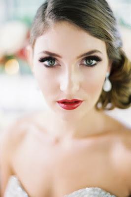 maquiagem para noivas batom vermelho