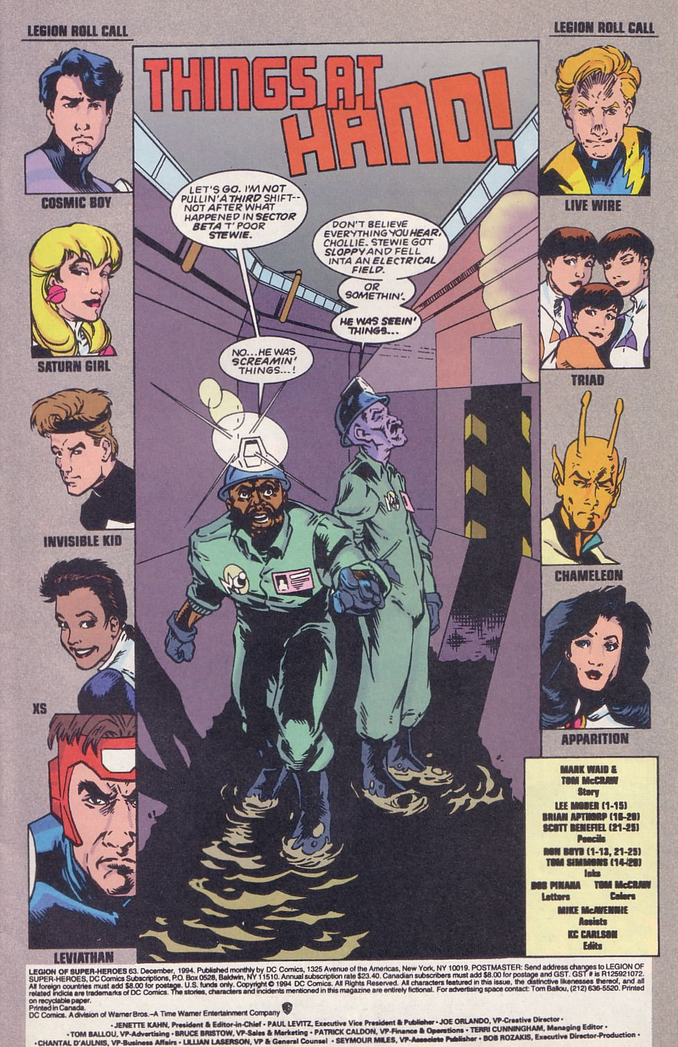 Legion of Super-Heroes (1989) 63 Page 2