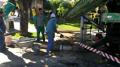 Mais um equipamento instalado na Praça Carlos Batalha