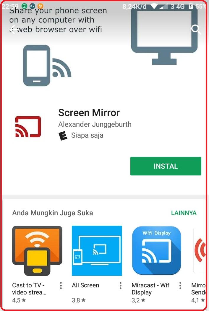 Aktifkan Screen Mirroring Di Semua Type Hp Samsung Tanpa Aplikasi Youtube
