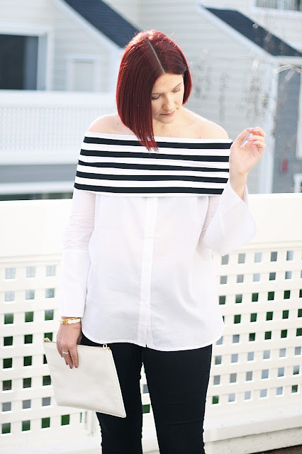 shein, affordable fashion, blogger, off-shoulder top, luxury, red hair