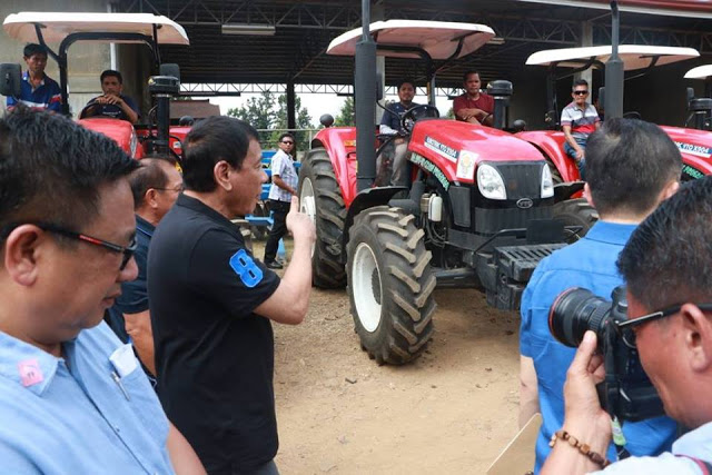President Duterte Gives Farmers And Fishermen Of Basilan P100-Million Worth Of Equipment To Celebrate His 100 Days In Office.