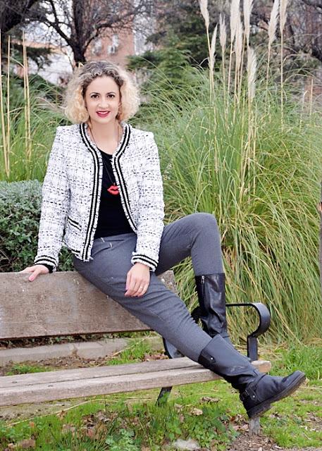 Outfit-Americana-tweed-adorno-perla-5