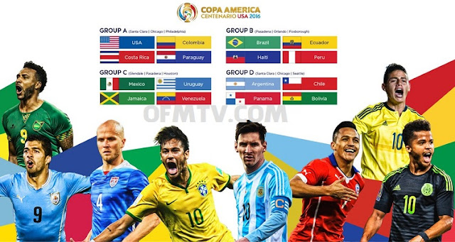 Copa America Schedule, Scores, kicks off time 2016