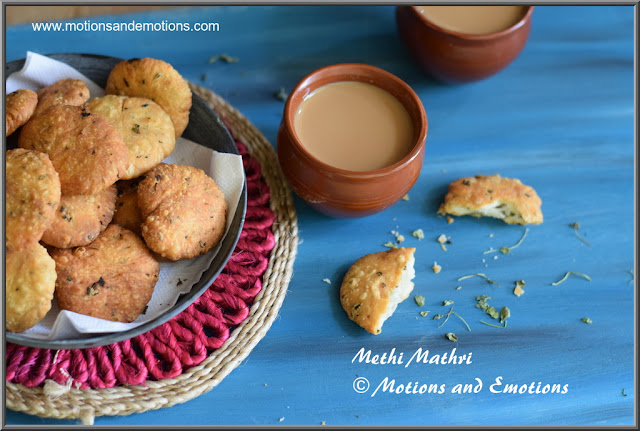 methi mathri perfect tea time snack