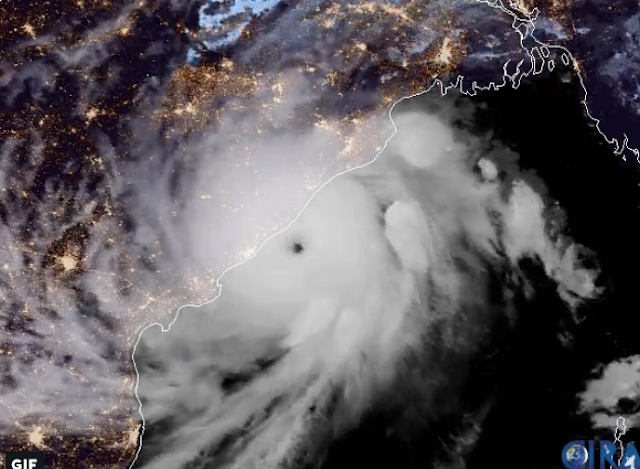 Satiate Picture of Cyclone Fani By NOAA Satellites