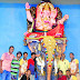Ganesha idol made of 30,000 tissue paper in Mumbai vile parle