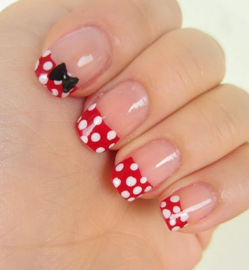 Nail Art Minnie Mouse | Fashionate Trends