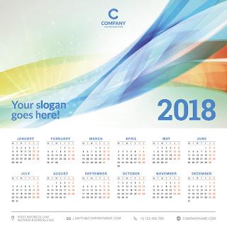 2018カレンダー無料テンプレート013