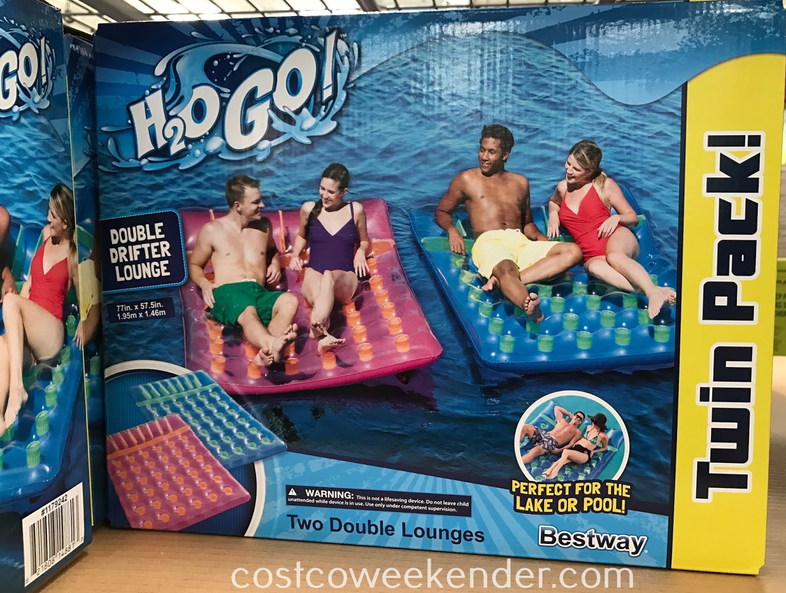 Costco 1179242 - Summer fun won't be complete without the Bestway Double Drifter Lounge Pool Float