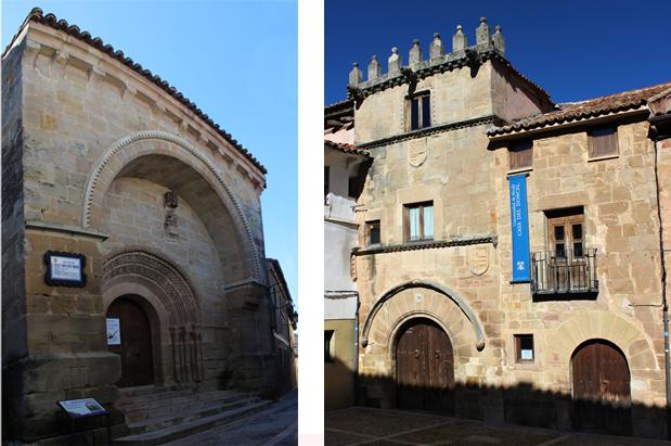 La iglesia de San Vicente (izda.) y la Casa del Doncel