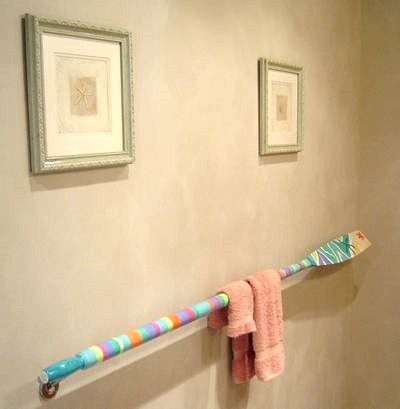 painted oar rack towel bar