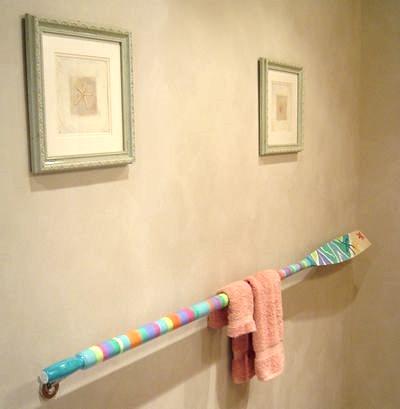 painted oar rack towel bar