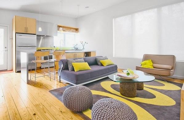 d coration salon avec l 39 accent jaune d coration salon d cor de salon. Black Bedroom Furniture Sets. Home Design Ideas