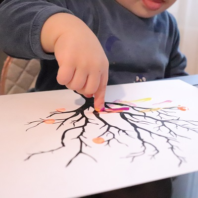 activité peinture pour bébé