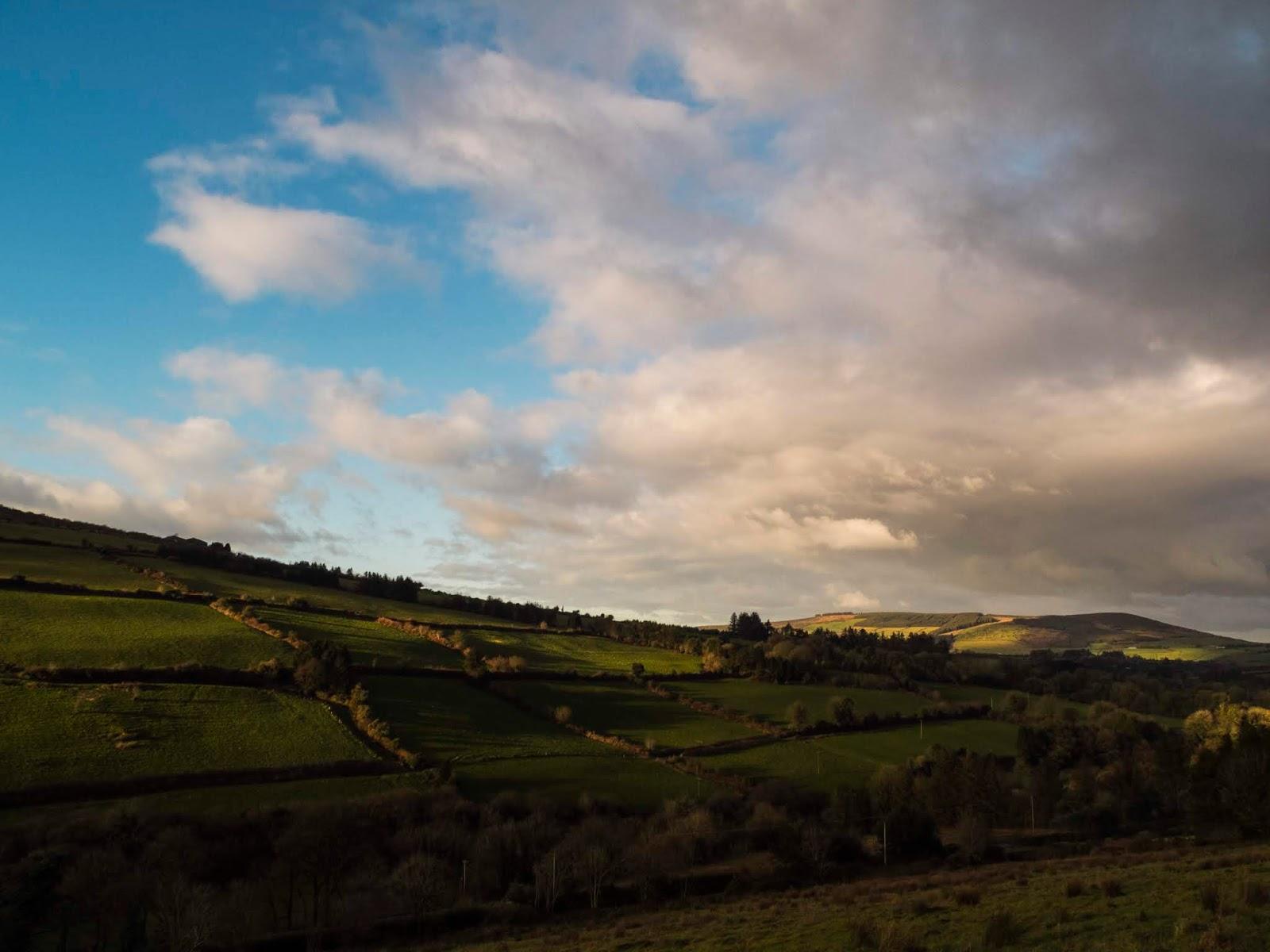 Landscape of North Cork Boggeragh Mountains.