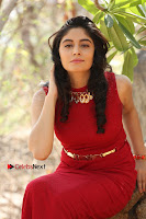 Telugu Actress Zahida Sam Latest Pos in Red Gown at RF Films New Movie Opening  0359.JPG