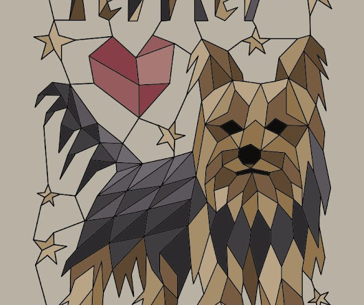 Geometric Yorkshire Terrier