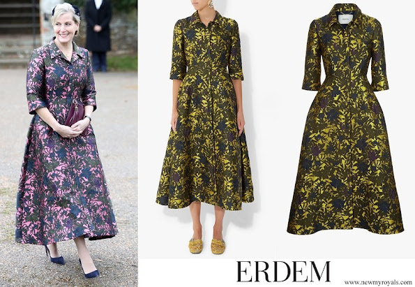 Countess Sophie wore Erdem Kristen Coat Dress
