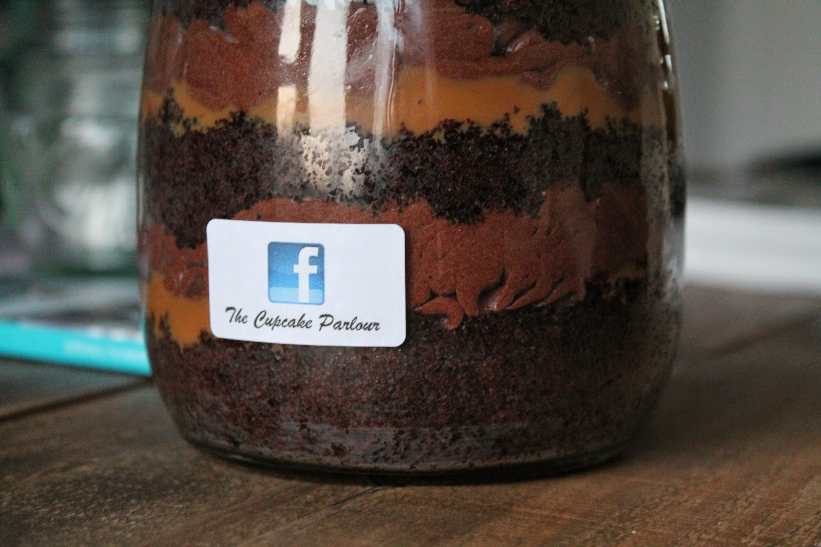 The Cupcake Parlour Cake in a jar Redcar Chocolate