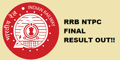 RRB NTPC (Chandigarh) Result Out