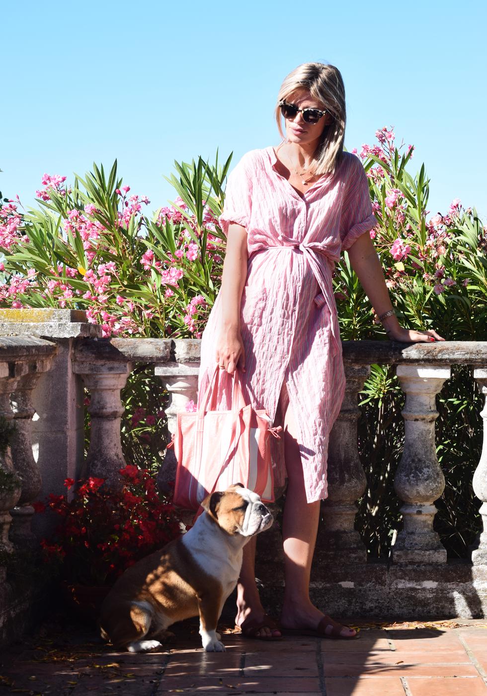 Outfit of the day, Gucci, Dewolf, Xirena, Hermès, Tiffany Co, Anne Zellien, Minitials, Balenciaga, ootd, style, fashion, blogger, maternity, bump, dressing, summer, pregancy