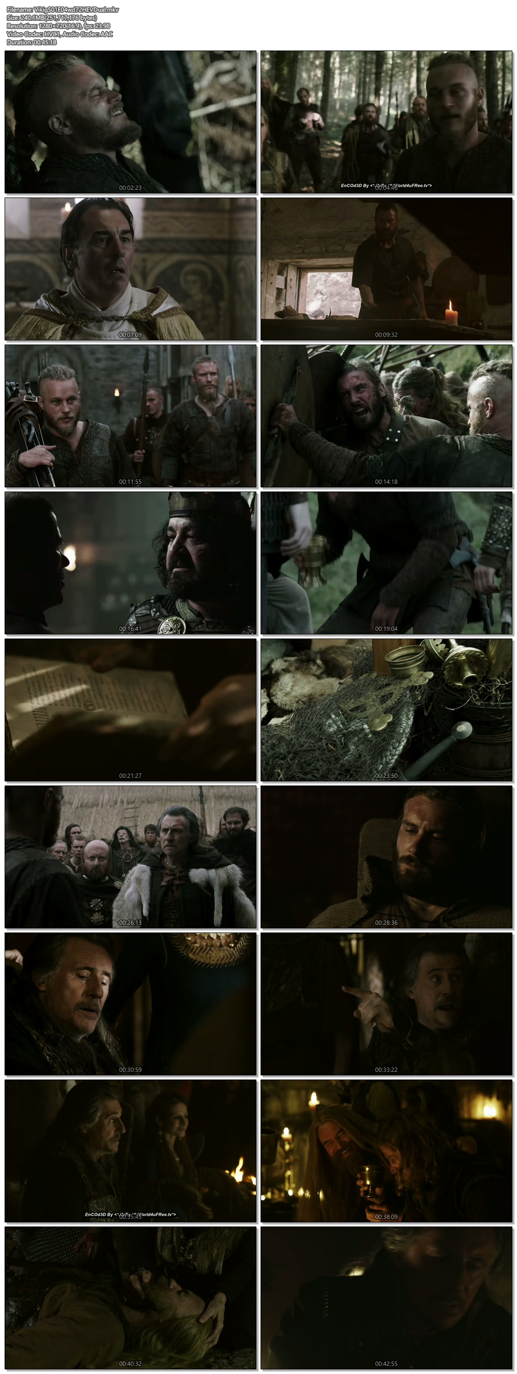 Screenshots Of Hindi Dubbed Show Vikings 2013 Season 01 Episode 04 300MB 720P HD