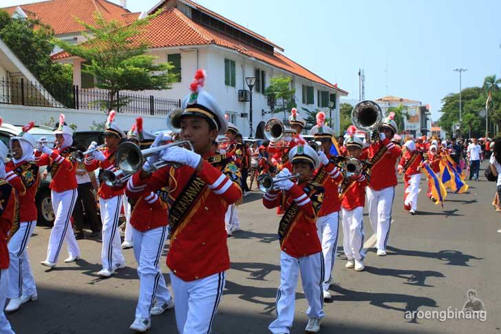 marching band kabupaten karawang kelenteng fat cu kung bio glodok jakarta