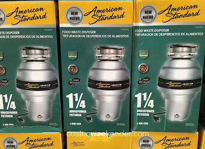 Easily get rid of food scraps with the American Standard ASD-1250 Food Waste Disposer