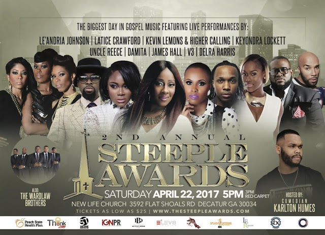 The Second Annual Steeple Awards Celebrates Gospel Artists and Ministry Leaders on April 22nd