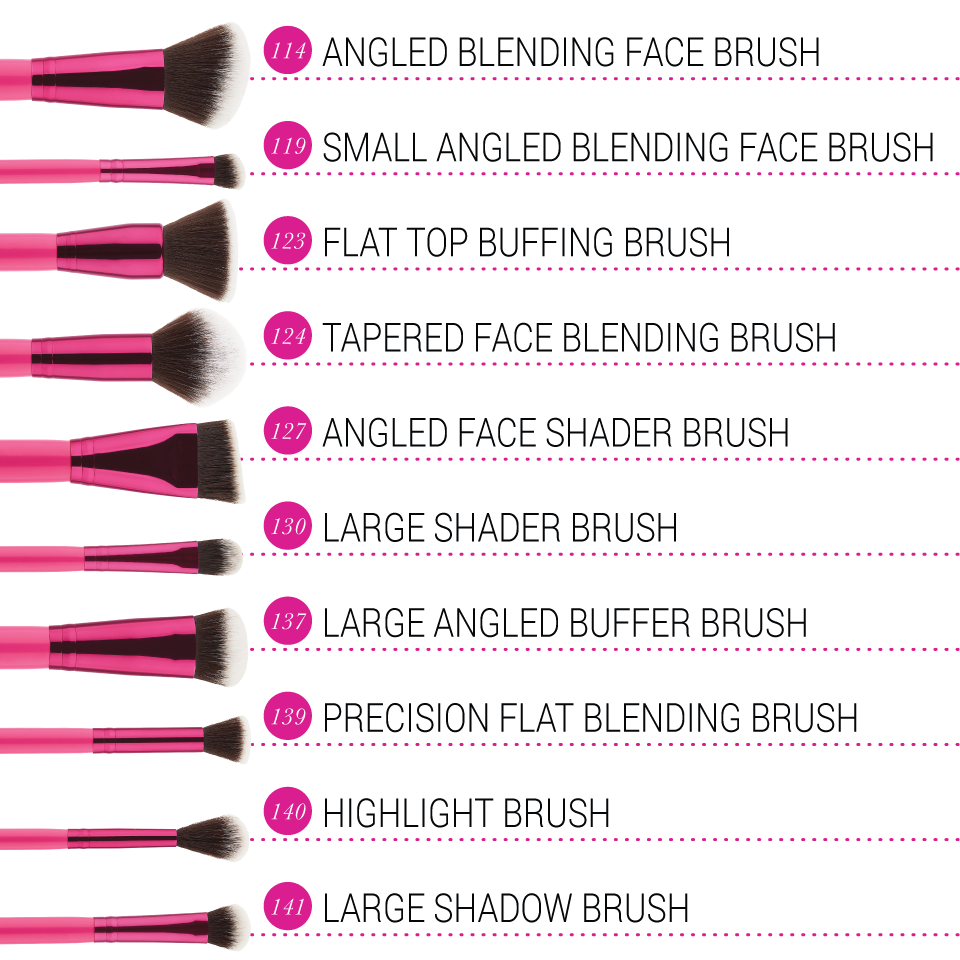 BH Cosmetics Sculpt and Blend Fan Faves 10 Pcs Brush Set