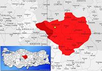 Yerköy ilçesinin nerede olduğunu gösteren harita.