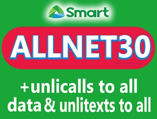 Smart ALLNET30 - Unli All Net Calls and Texts to all networks +  Data