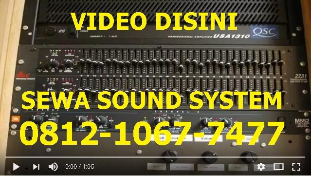 Harga sewa sound system jakarta barat