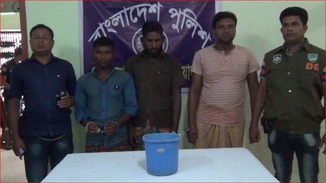Three-arrests-including-six-bombs-in-Chuadanga