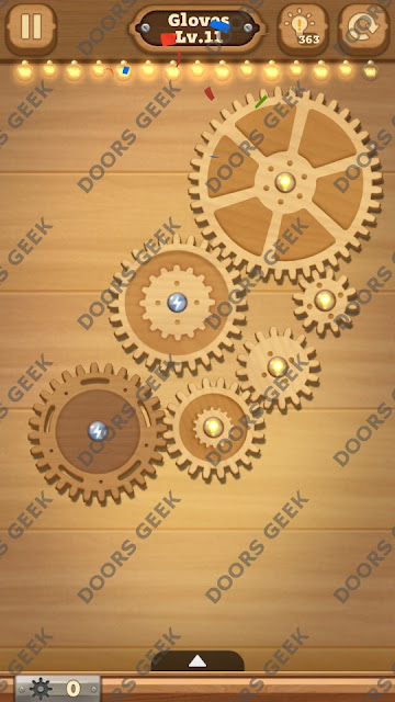 Fix it: Gear Puzzle [Gloves] Level 11 Solution, Cheats, Walkthrough for Android, iPhone, iPad and iPod