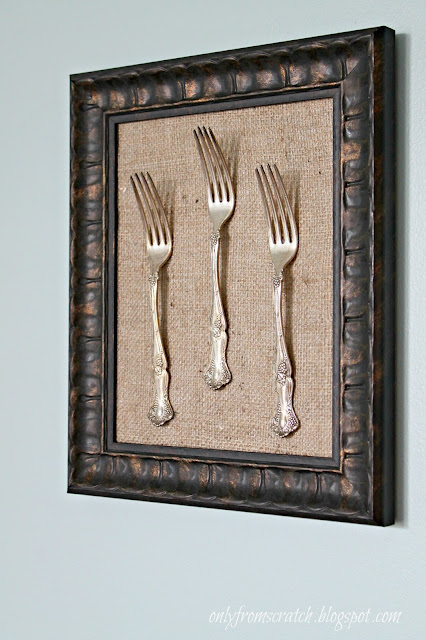 Only From Scratch: Framed Silverware Tutorial & Dining