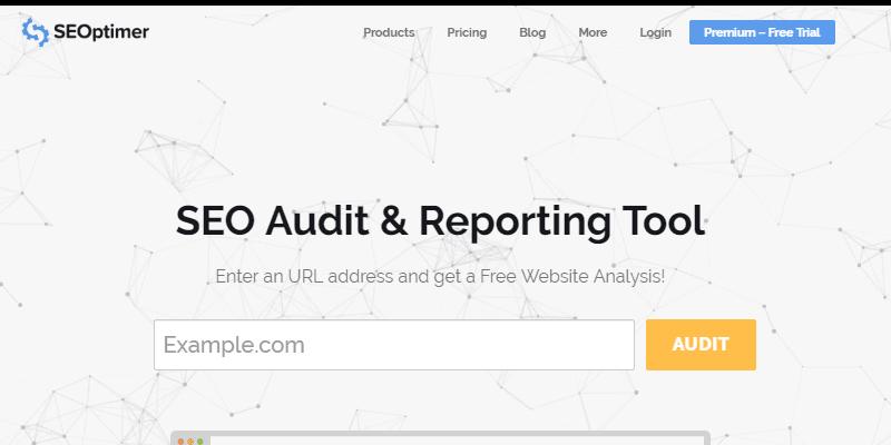 SEOptimer is a powerful SEO audit tool
