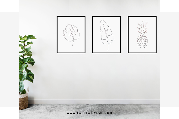 DIY One Line Wall Art