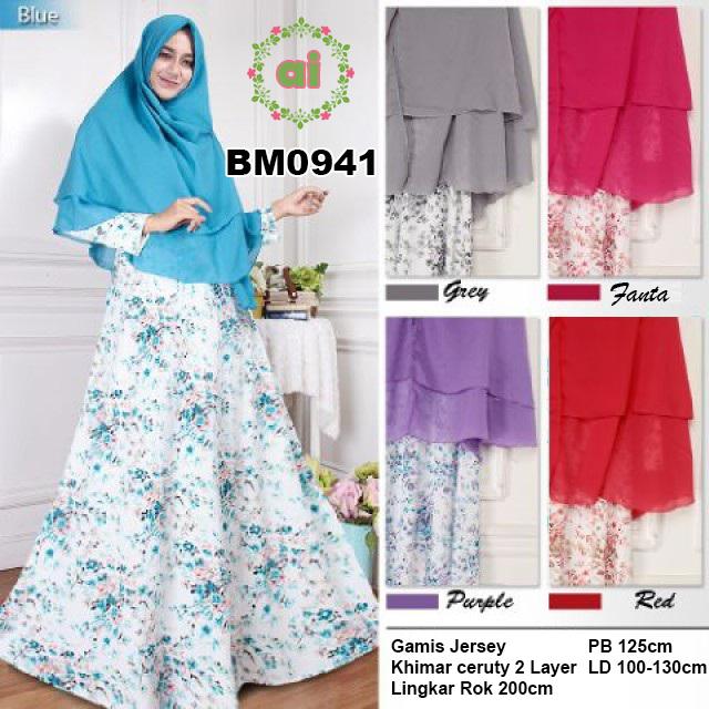 BM0941 Busana Muslim Bahan Jersey Plus Khimar Ceruty Dua Layer - pusat  grosir online supplier dan distributor baju gamis murah di sidoarjo  surabaya malang ... 645f8ada5e