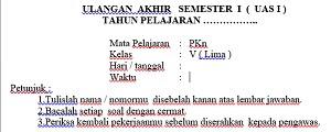 40 Soal UAS Semester 1 PKn Kelas 5 Dan Kunci Jawaban