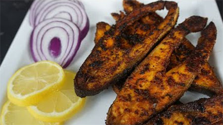 Fish fry in Tamil / Meen varuval